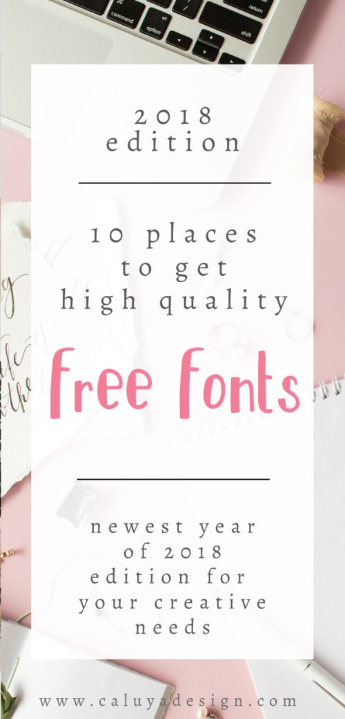 10 places to get free high quality fonts