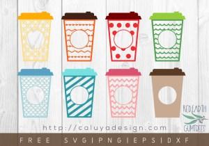 Free Travel Coffee Monogram SVG