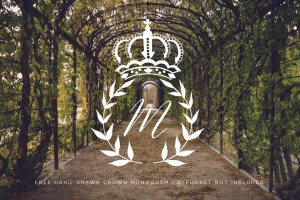 FREE Crown Monogram SVG
