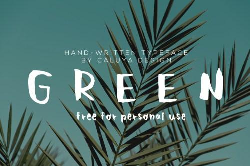 free green font file download