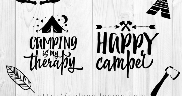 Free Happy Camper SVG, PNG, EPS & DXF