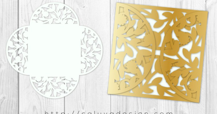 FREE 5×5 Folded Card Cut Template SVG, PNG, EPS & DXF