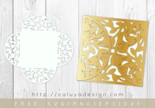 free 5x5 folded card cut template