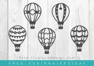 Free Hot Air Balloon SVG