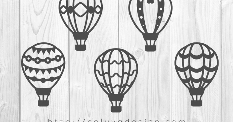 Free Hot Air Balloon SVG, PNG, EPS & DXF Download