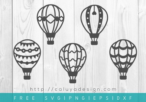 free hot air balloon svg