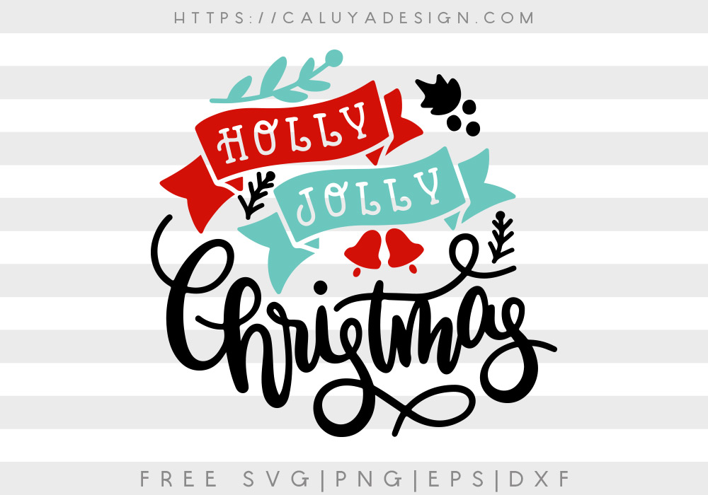 Be sure to check out my friends' Free Holly Jolly Christmas Svg Png Eps Dxf