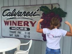 Photo of Calvaresi Winery sign.
