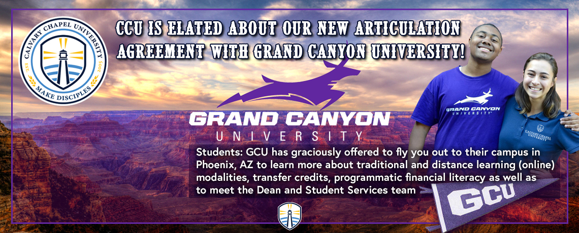 Grand Canyon University Articulation Agreement