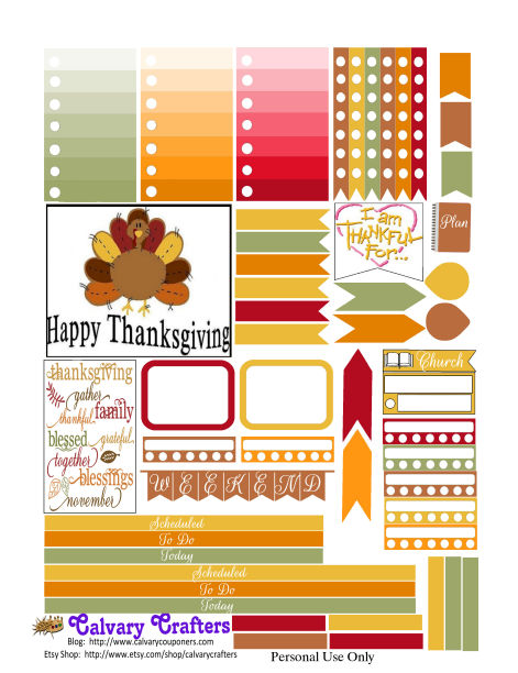 Freebie Friday Country Thanksgiving Planner Printables