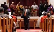 Pastor Davis preaching