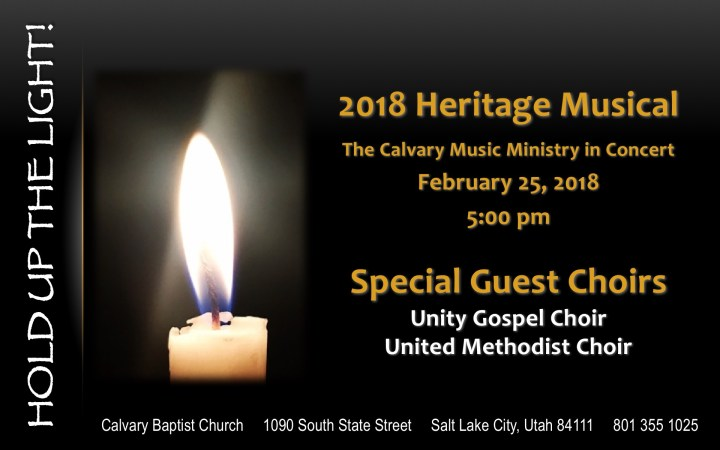 2018 Heritage Musical Flyer