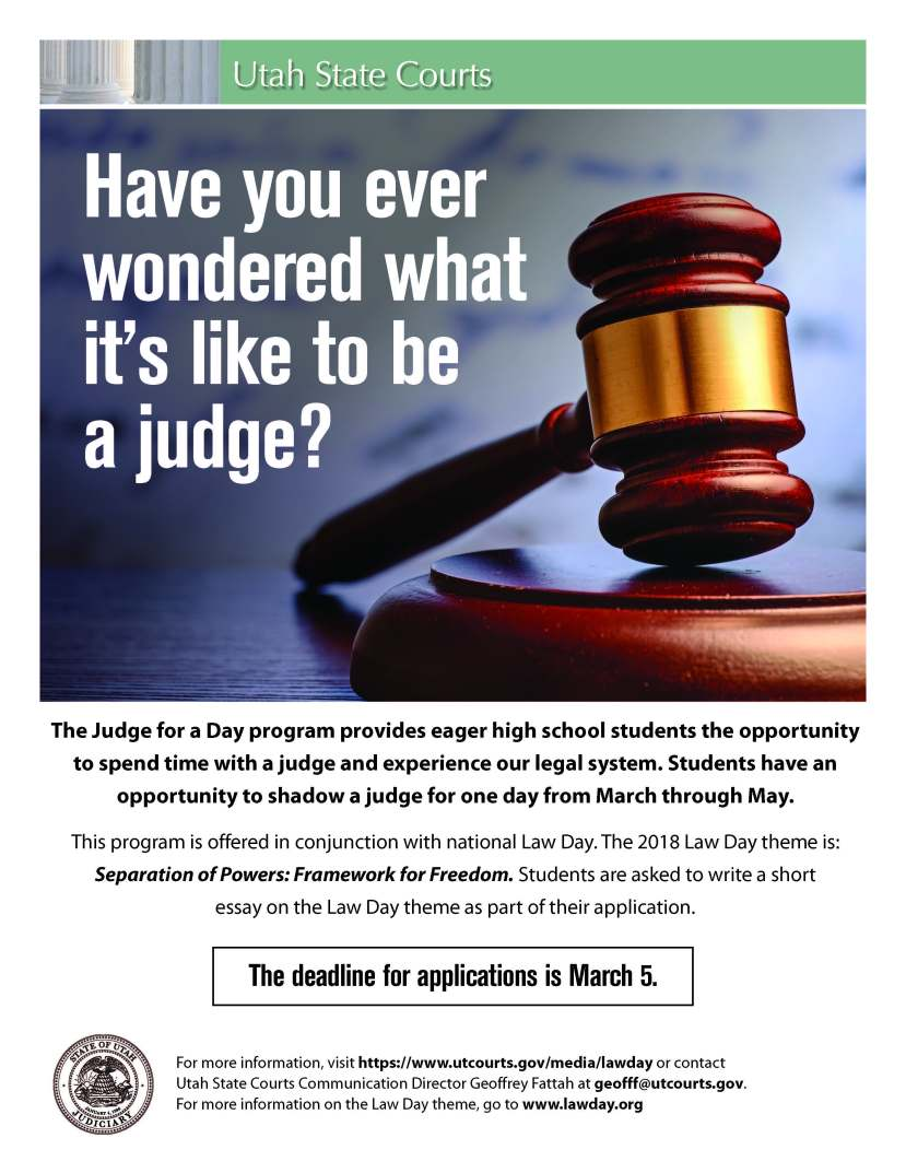 Judge for a Day 2018 Flier