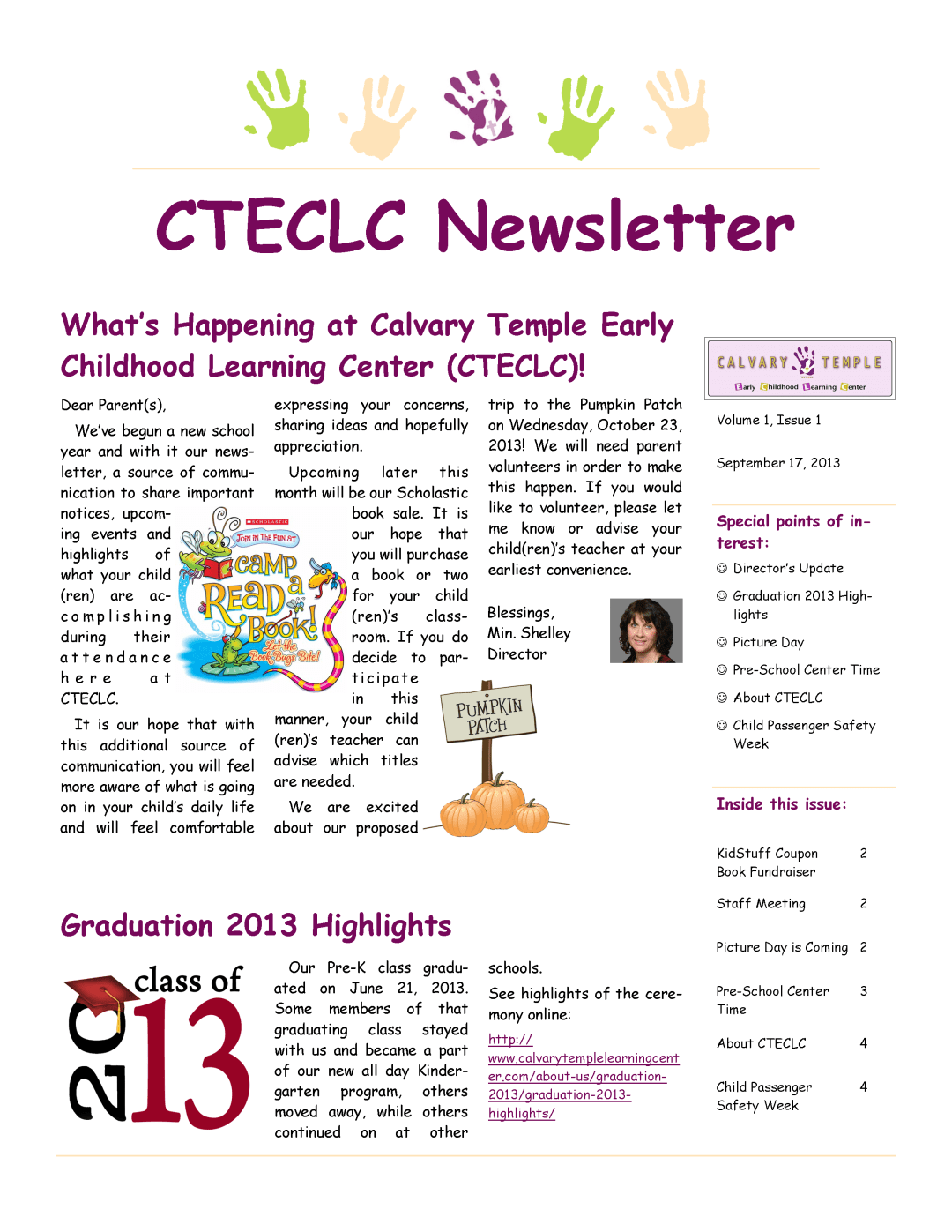 cteclc september newsletter 2013
