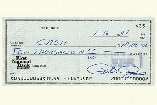 Pete Rose's gambling checks are up for auction | Sports News