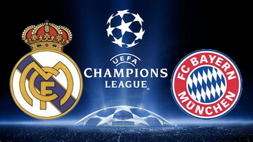 Image result for Bayern Munich against Real Madrid champions league quarter finals