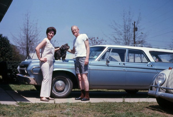 Mom, Dad, and 64 Plymouth Belvedere Station Wagon