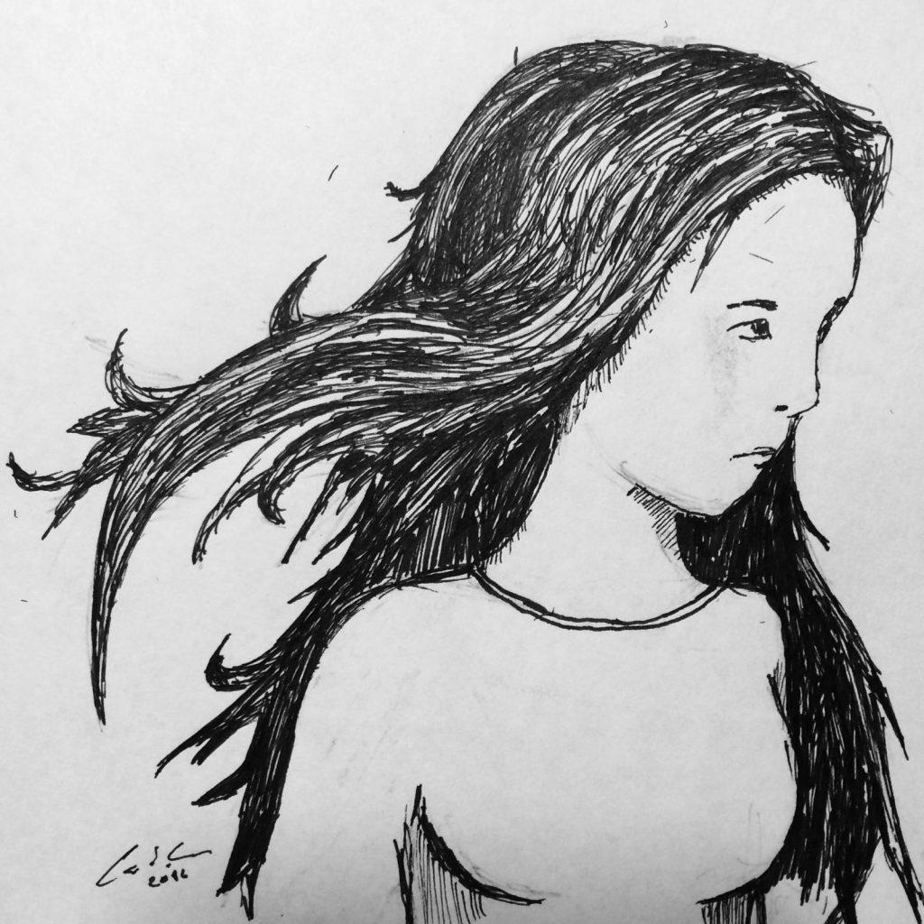 Girl Sketch by Calvin Gilbert