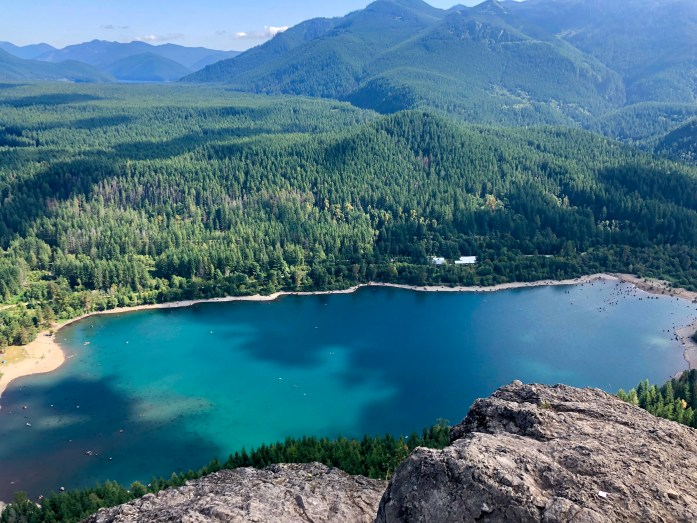 rattlesnake ledge lake view at the top