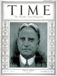 Hiram Johnson - Time magazine cover