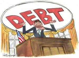 debt, obama, Christo Komarnitski, cagle, Nov. 11, 2013