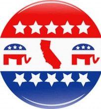 California Republican Party button