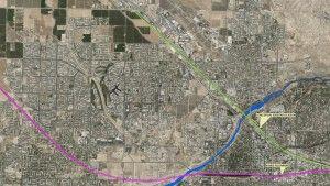 Bakersfield train map