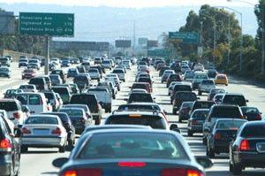 Traffic freeway gridlock