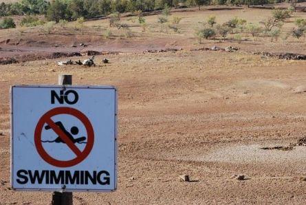 Drought no swimming