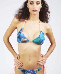 Bikini triangulo cola less Rio Tanga Ocean Salmón