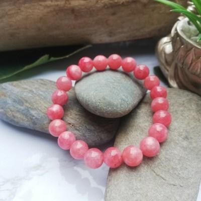 Bracelet Calcédoine Rose