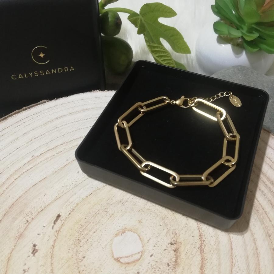 Bracelet Acier Inoxydable Maillons Dorés