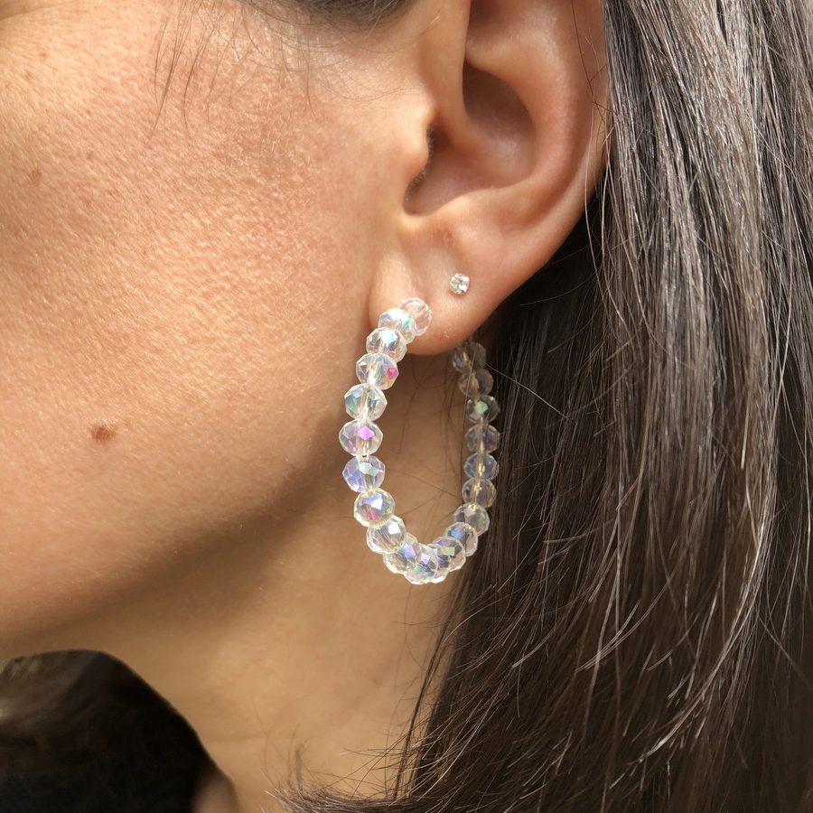 Créoles Perles Blanches