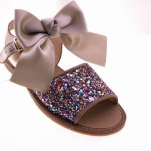 mod:568 sandalia de niña actuales todo en piel nacional   22\34