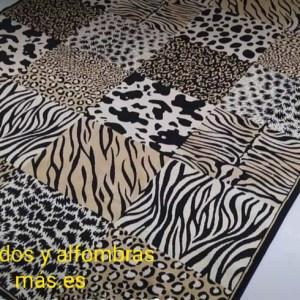 alfombras finas lavables mod: leopardo