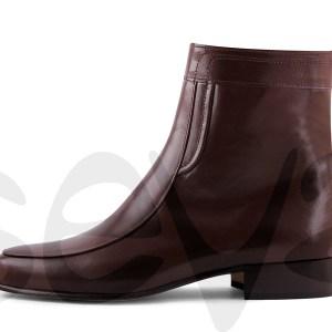 MARTTELY Design 5205 Bota Vestir en Piel Caprina y Tacón Bajo 3 Cm para Hombre
