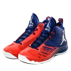 "c6a075e8dc92a Jordan Super Fly 5 ""Naranja Azul Suela Blanca"" Originales"