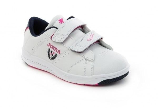 deportivos Play Joma blanco-rosa