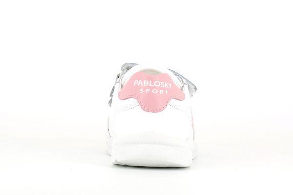 Deportivo blanco-rosa 277907 Pablosky talón