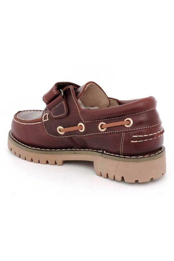 Zapatos de niño Yowas marrón talón