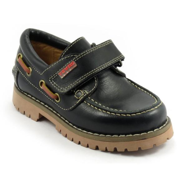 zapato unisex yowas marino velcro lado