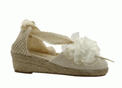 Zapatilla niña Esdori blanco roto