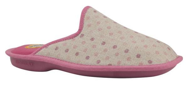 Zapatillas de casa Biorelax puntitos lado