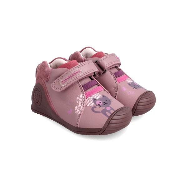 Botines piel Biomecanics bebé niña rosa 211117 par