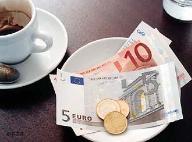 gorjeta euros