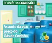 A reunião de comissões do dia 09/03, na câmara, teve como pauta um assunto de grande relevo para o município: o preço do gás cozinha