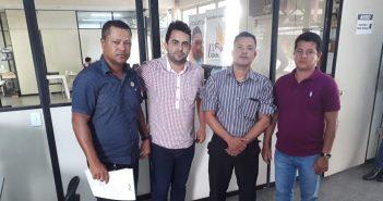 Vereadores na SEEL em Belém