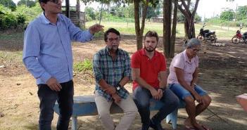Vereador  Fabiano Esteve na Comunidade do Bonfim