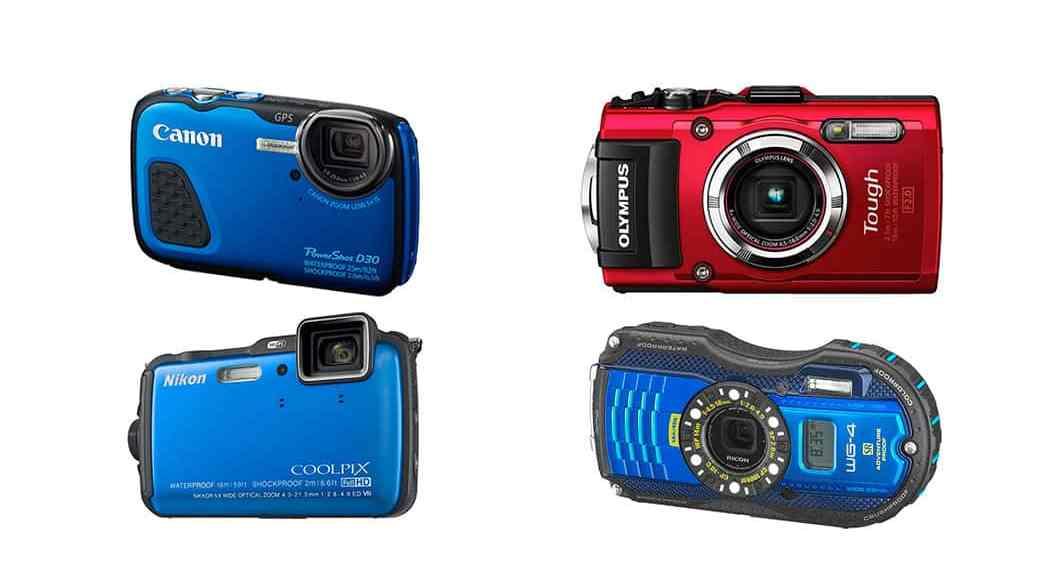 Las mejores cámaras sumergibles en 2014: Canon PowerShot D30, Nikon Coolpix AW120, Olympus Tough TG-3 vs Ricoh WG-4 GPS