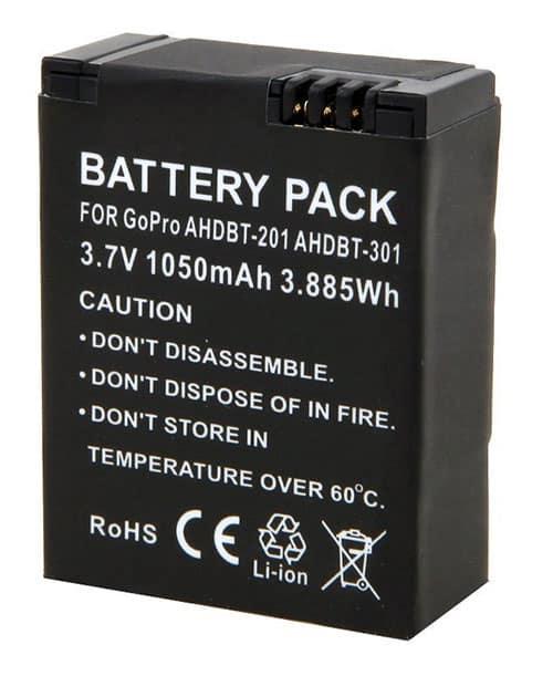 TARION Bateria para Gopro: 1050mAh Li -Ion para GoPro HERO 3, 3+